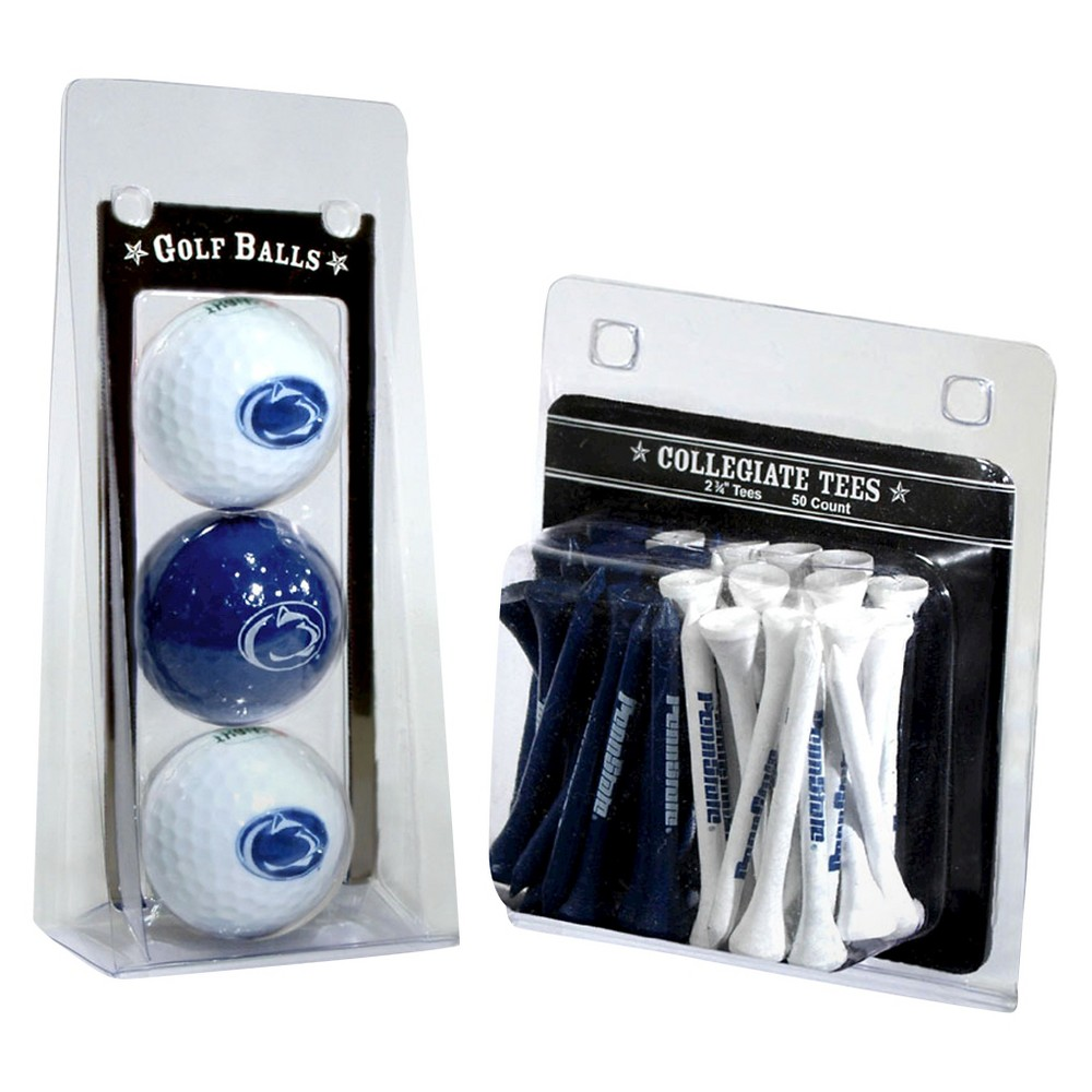 NCAA 3 Ball and 50 Tee Golf Accessories Set Penn State Nittany Lions