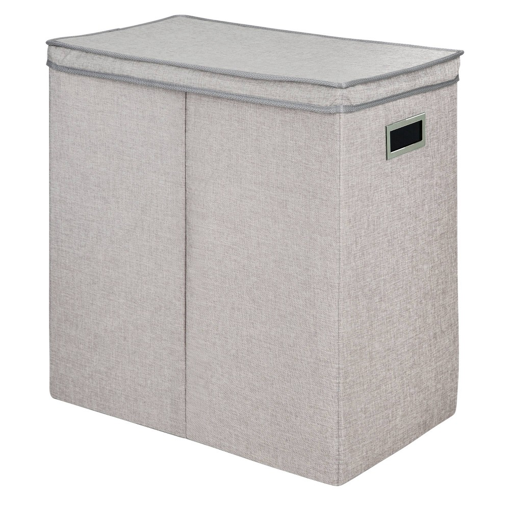 Greenway Collapsible Double Sorter Laundry Hamper Gray