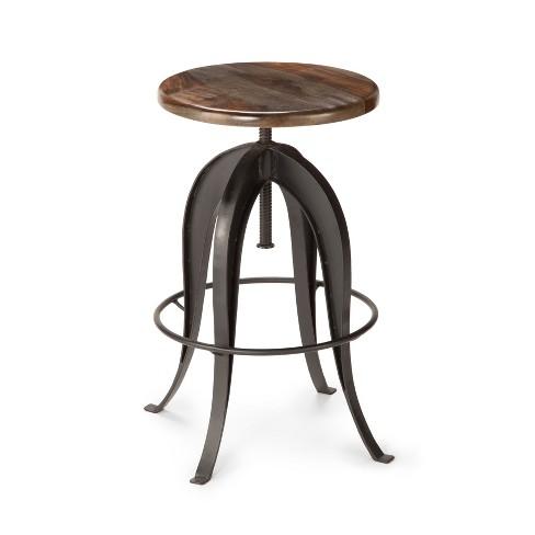 Strange Sparrow Round Bar Stool Sheesham Wood Steve Silver Ibusinesslaw Wood Chair Design Ideas Ibusinesslaworg