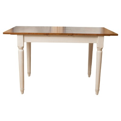 Clearwater Drop Leaf Dining Table Dark Oak/White - Christopher Knight Home