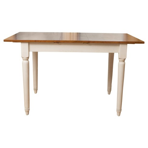 Clearwater Dining Table w/ Leaf Extension Dark Oak/White - Christopher Knight Home - image 1 of 4