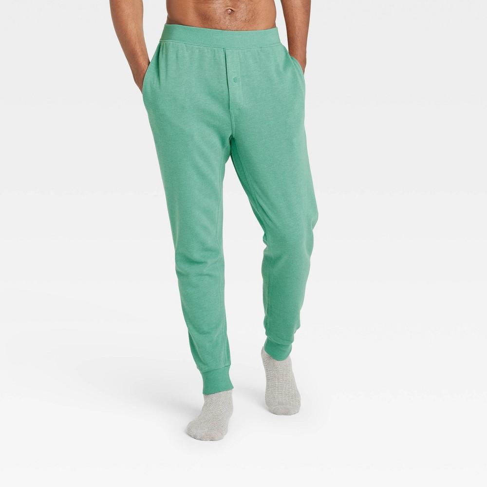 Men 39 S Regular Fit Knit Jogger Pajama Pants Goodfellow 38 Co 8482 Green Xl