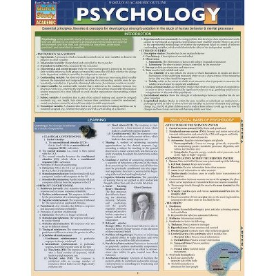 Psychology - (Quick Study: Academic) by  Barcharts Inc (Poster)