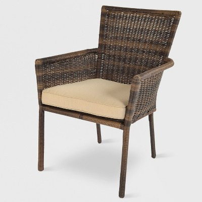 Monroe Stack Patio Dining Chair Brown - Threshold™