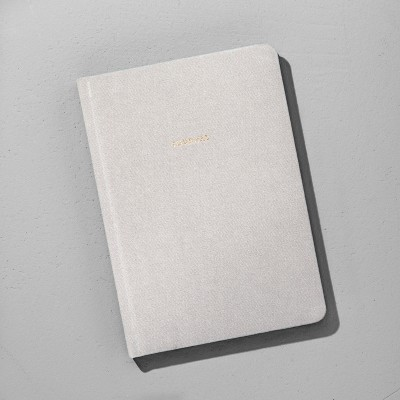 Lined Fabric Journal - Grey - Hearth & Hand™ with Magnolia