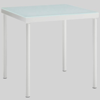 Harmony Aluminum Outdoor Patio Side Table - White - Modway