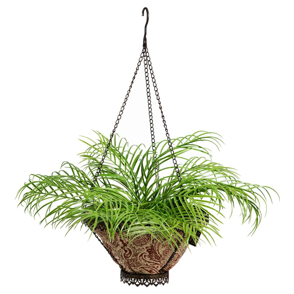 Image of Avignon Hanging Fabric Planter With Venice Liner - Black - Bombay Outdoors, Brown
