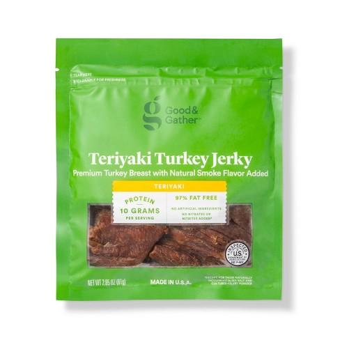 Teriyaki Turkey Jerky - 2.85oz - Good & Gather™ - image 1 of 3