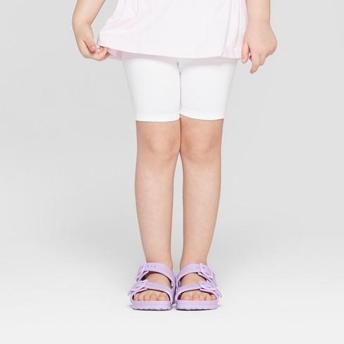 Toddler Girls' Bike Shorts - Cat & Jack™ White - image 1 of 3