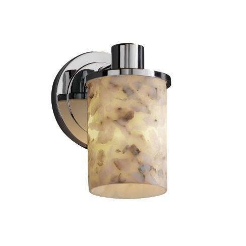 Justice Design Group ALR-8511-10 Alabaster Rocks 1 Light Bathroom Sconce - image 1 of 1