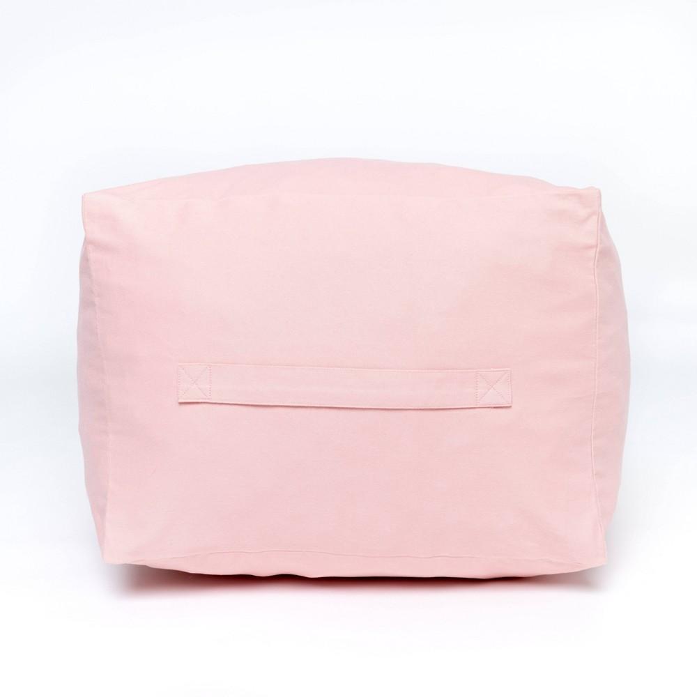 Image of Kids Square Pouf Rose Pink - Acme Made, Pink Pink
