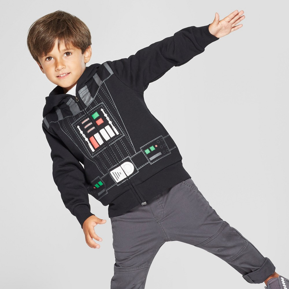 Toddler Boys' Star Wars Darth Vader Hooded Sweatshirt - Black 18M