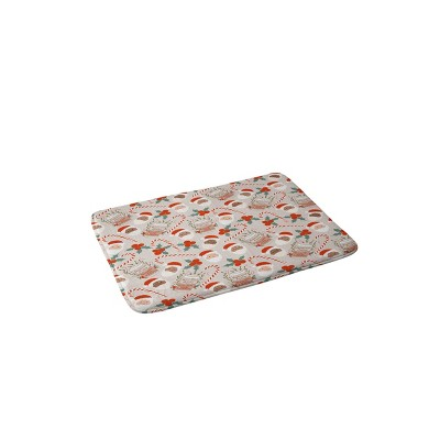"""36""""x24"""" Dash and Ash Peppermint Mocha Memory Foam Bath Mat Brown and Red - Deny Designs"""