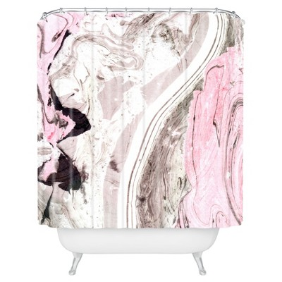 Mable Shower Curtain Pink - Deny Designs