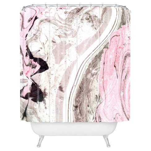 Marble Shower Curtain Pink - Deny Designs® - image 1 of 2