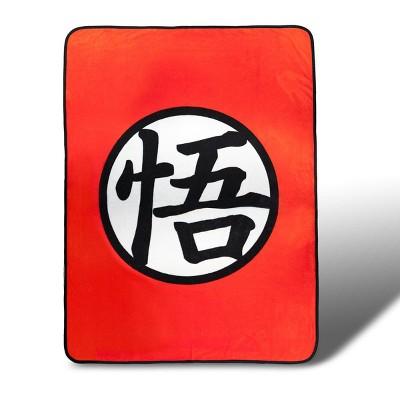 Just Funky Dragon Ball Z Custom Goku Symbol Lightweight Fleece Blanket | 45 x 60 Inches