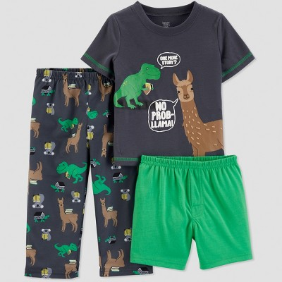 Baby Boys' 3pc Llama Pajama Set - Just One You® made by carter's Green 12M