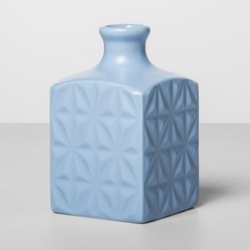 """4.2"""" x 2.5"""" Decorative Stoneware Matte Vase Blue - Opalhouse™ - image 1 of 1"""