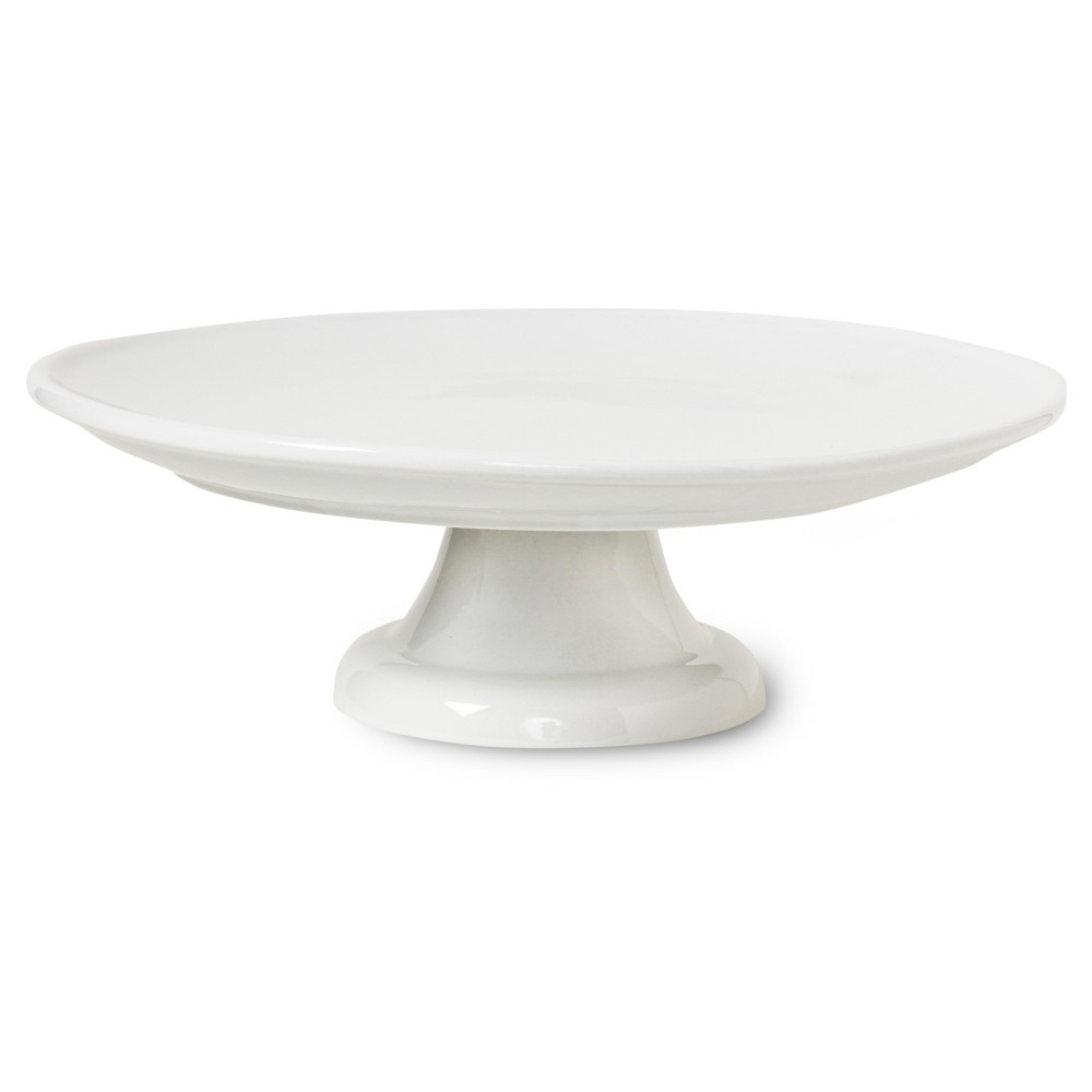 Honey Can Do Porcelain Cake Stand 10, White