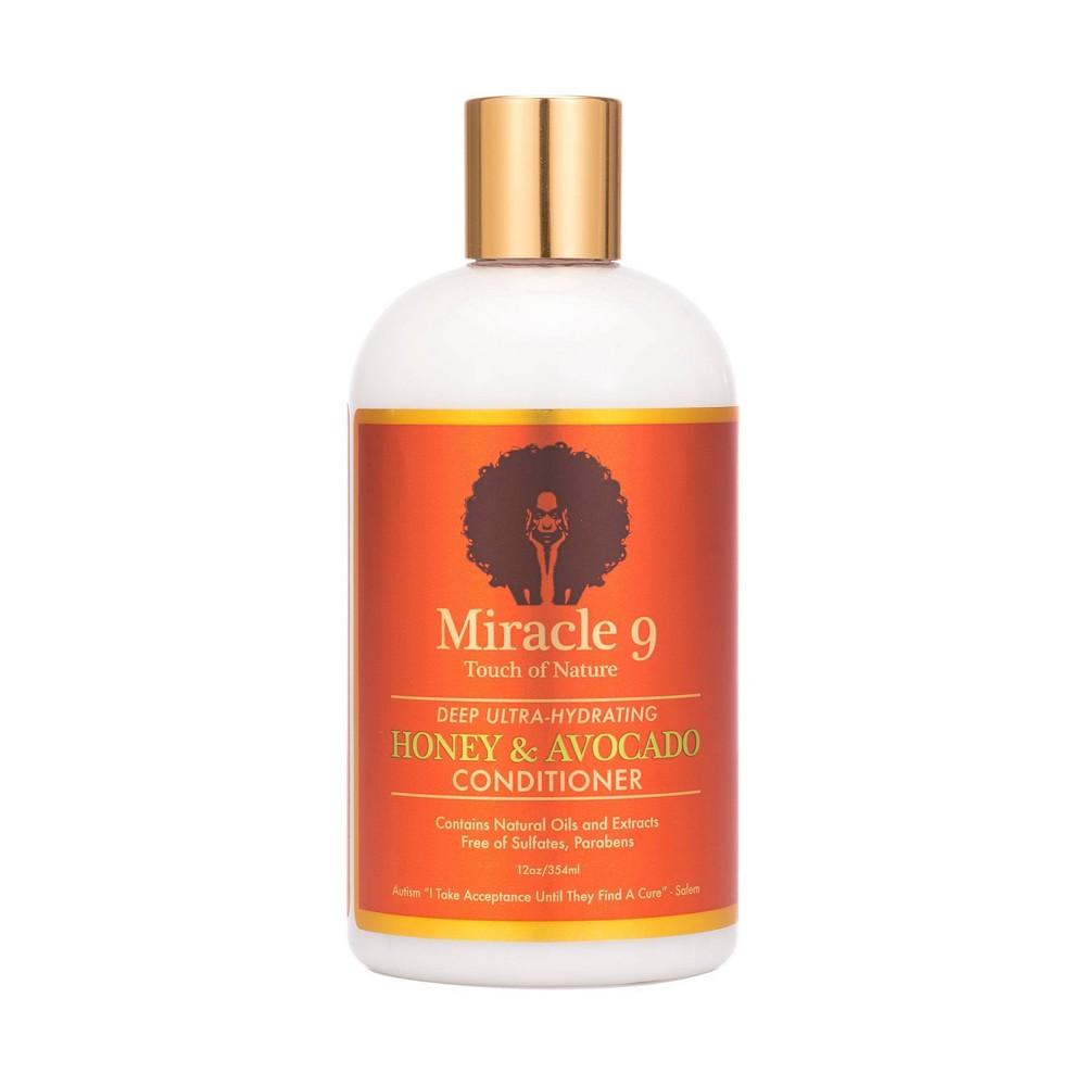 Image of Miracle 9 Touch Of Nature Deep Ultra-Hydrating Hair Conditioner - 12 fl oz