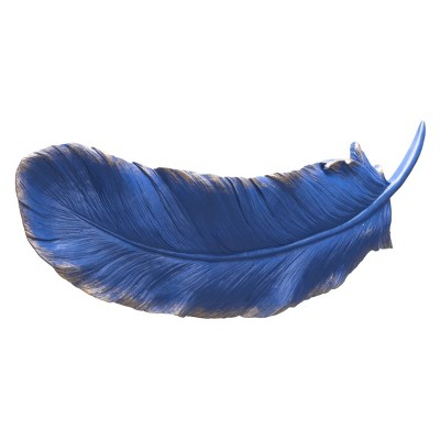 ZM Home 23  Feather Wall Sculpture Blue