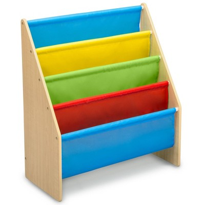 Delta Children Sling Book Rack Bookshelf for Kids' - Blue/Yellow/Red