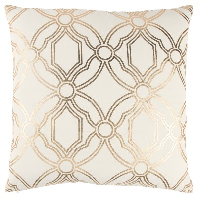 Rizzy Home Geometric Throw Pillow Gold