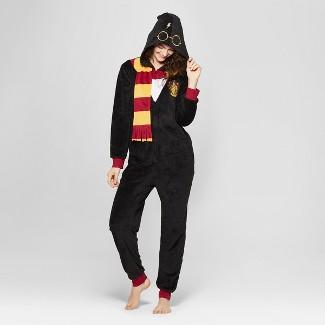 Women's Warner Brothers Harry Potter Union Suit - Black L-XL