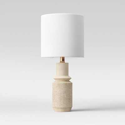 Textured Wood Simple Accent Lamp White - Project 62™