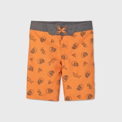 Boys' Shark Skull Swim Trunks - art class™ Orange