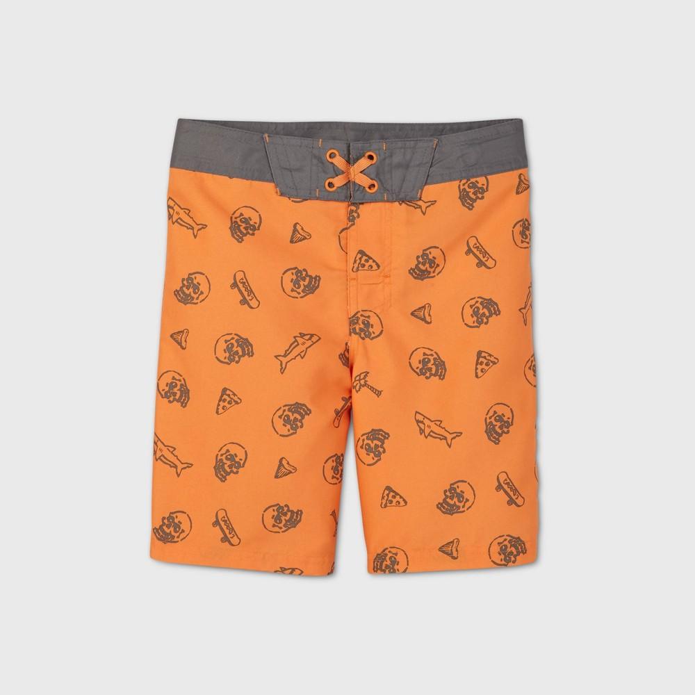 Discounts Boys' Shark Skull Swim Trunks - art class™
