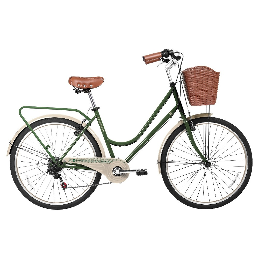 Gama Women's City Basic 26 Premium Hybrid Bike - Green