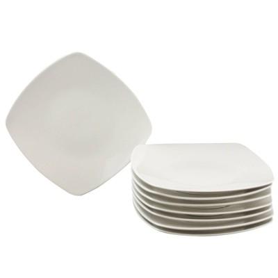 """Gibson Home 10"""" 8pk Ceramic Zen Buffetware Dinner Plates"""