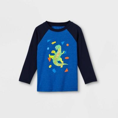Toddler Boys' Dino Rock Climbing Graphic Long Sleeve T-Shirt - Cat & Jack™ Blue