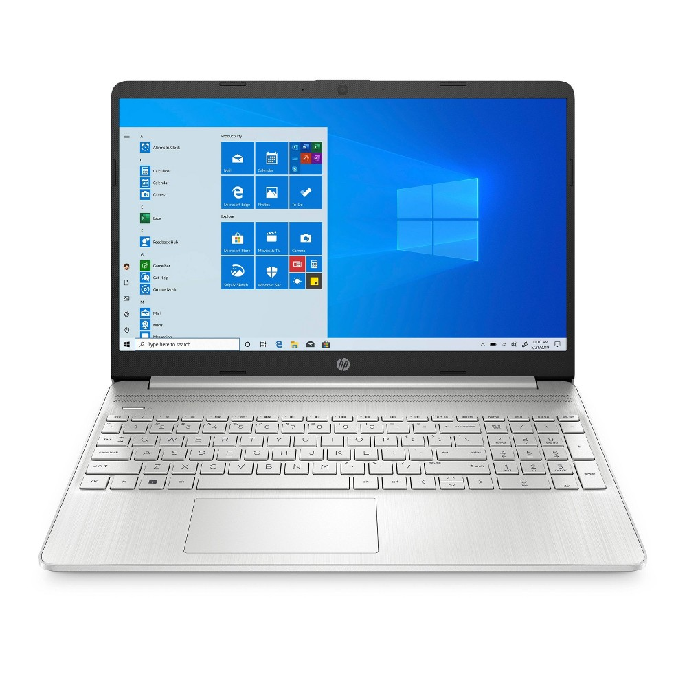 """HP 15.6"""" Laptop with Windows 10 Home, 256GB SSD storage, AMD Athlon Gold processor, Natural Silver (15-ef1038nr)"""