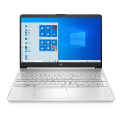 "HP 15.6"" Laptop with Windows 10 Home, 256GB SSD storage, AMD Athlon Gold processor, Natural Silver (15-ef1038nr)"