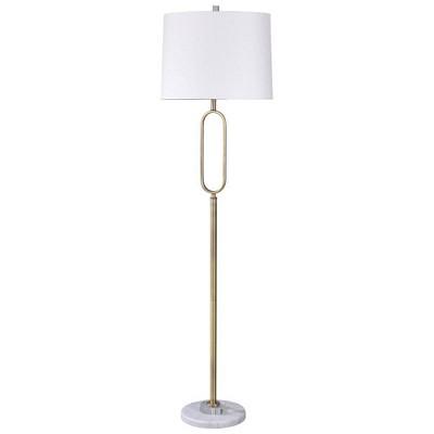 "63"" 3-way Hoop Accent Floor Lamp Marble Crystal - StyleCraft"
