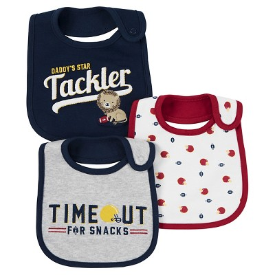 Just One You™ Made by Carter's® Baby Boys' 3pk Lion Daddy's Tackler Bib - Navy