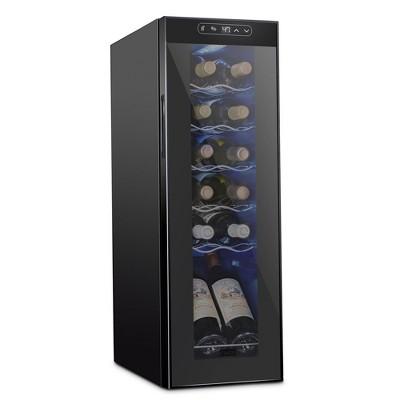 Schmecke 9.9 in. 12 Bottle Compressor Freestanding Wine and Beverage Cooler
