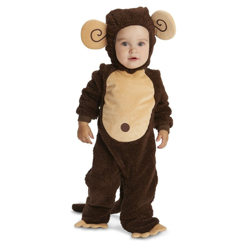 Lovely Monkey Baby Costume - (6-12 Months), Infant Unisex, Size: 6-12M, Brown