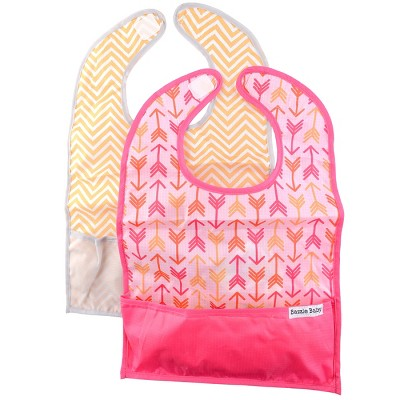 Bazzle Baby Go Bib Set Arrows & Chevron - 2pk