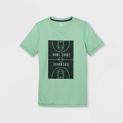 Boys' Short Sleeve 'Home Court Advantage' Graphic T-Shirt - All in Motion™ Mint