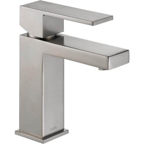Delta Bathroom Faucets.Delta Faucet 567lf Pp Angular Modern Single Hole Bathroom Faucet