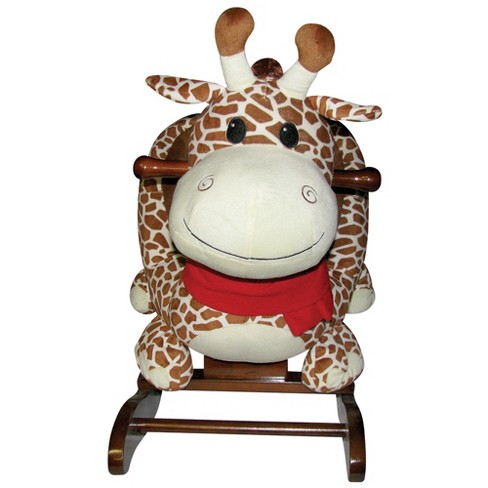 Charm Company Gerry Giraffe Childrens Animal Toy Plush Wooden Frame Rocker