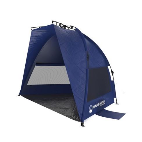 Wakeman Pop Up Beach Tent Blue