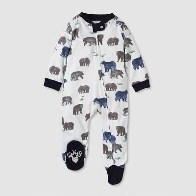Burt's Bees Baby® Baby Boys' Organic Cotton Bears Sleep N' Play - Blue 3-6 M