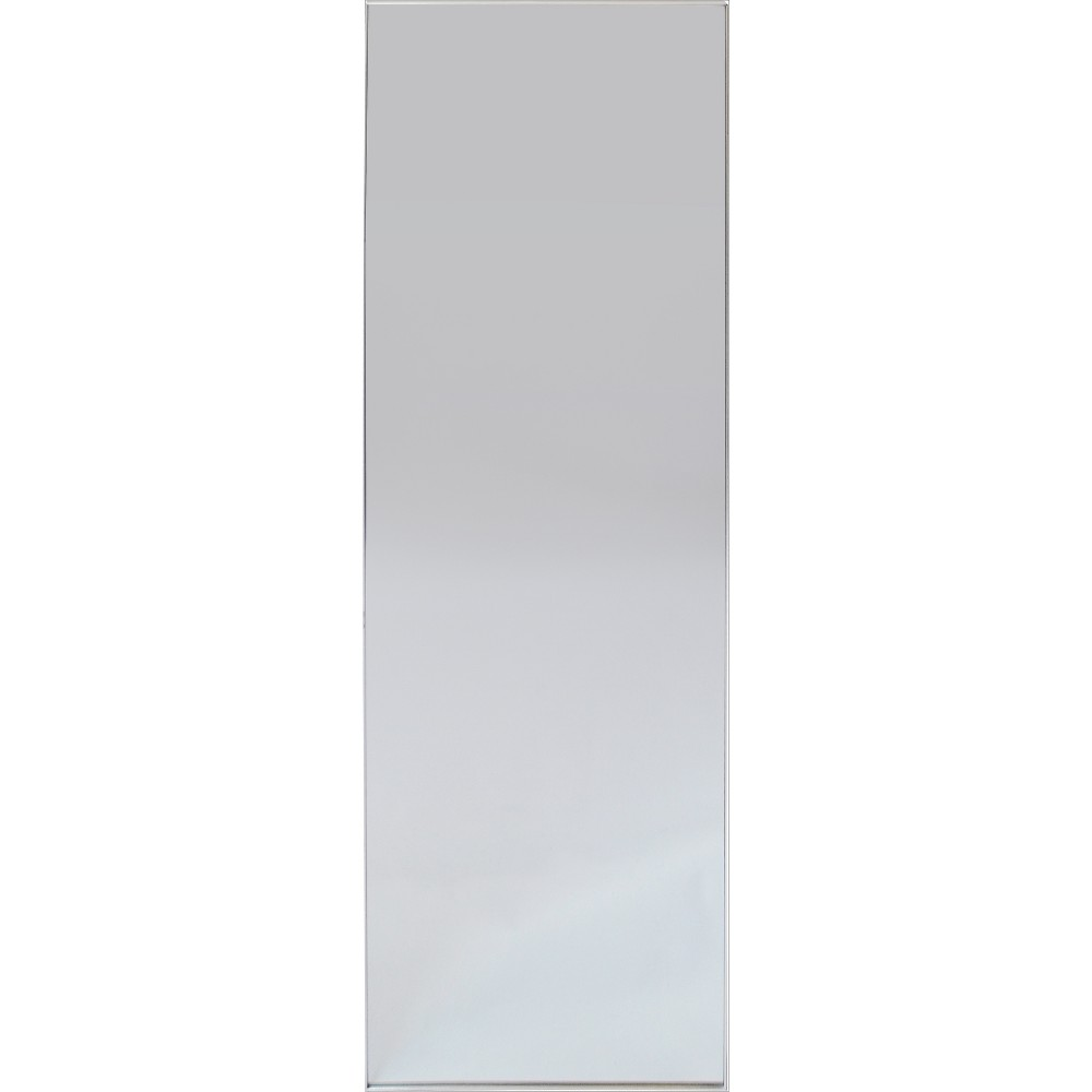 "Image of ""60""""x20"""" Brushed Nickel Modern Leaner Decorative Wall Mirror Silver - Project 62"""