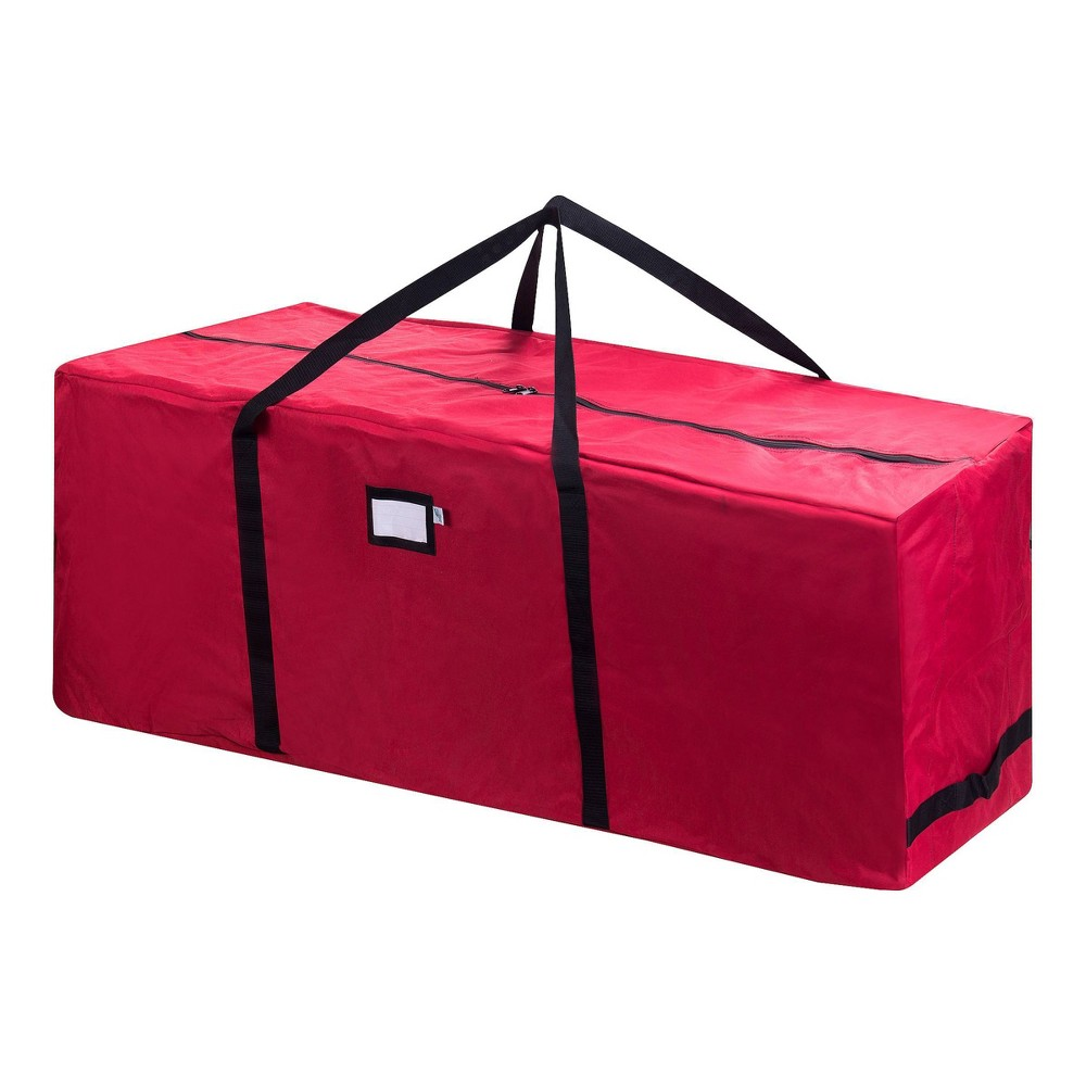 Image of 12' Premium Red Rolling Christmas Tree Storage Duffel Bag - Elf Stor