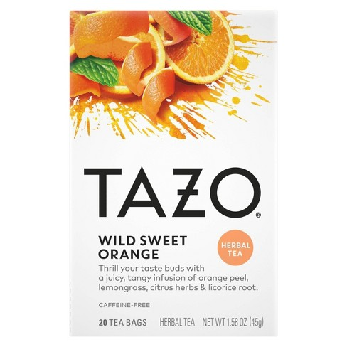 Tazo Wild Sweet Orange Caffeine-Free Herbal Tea - 20ct - image 1 of 4