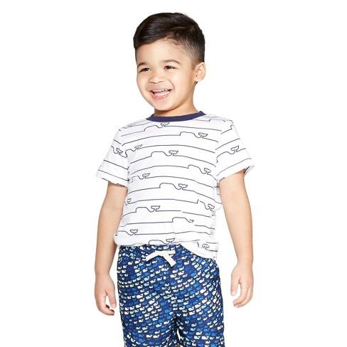 f3da0f1753 Toddler Boys  Short Sleeve Whale Line Graphic Crewneck T-Shirt - White - Vineyard  Vines® For Target   Target
